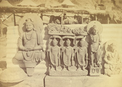 Group of statues of Buddhas and Bodhisattvas excavated at Lorian Tangai, Peshawar District 10031044